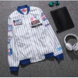 ヤンキース ホワイト ボーダー シュプリーム メンズ ジャケット.