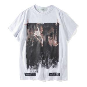 OFF WHITE2018春夏半袖オフホワイト Tシャツ
