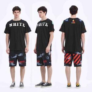 オフホワイト 偽物メンズOFF-WHITE高品質半袖コットンプリントTシャツ