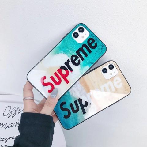 強化ガラス シュプリーム iphone12ケース