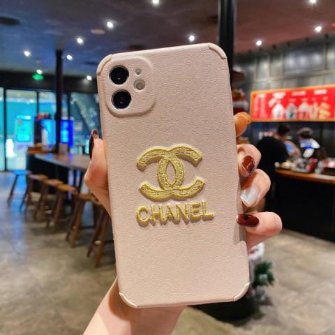 シャネル iphone12ケース 刺繍ロゴ