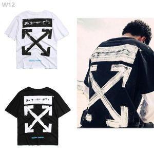 高級品通販Off-Whiteオフホワイト偽物のメンズのクルーネック半袖Tシャツ