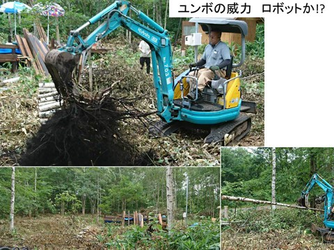 伐採・刈込3 ユンボの威力