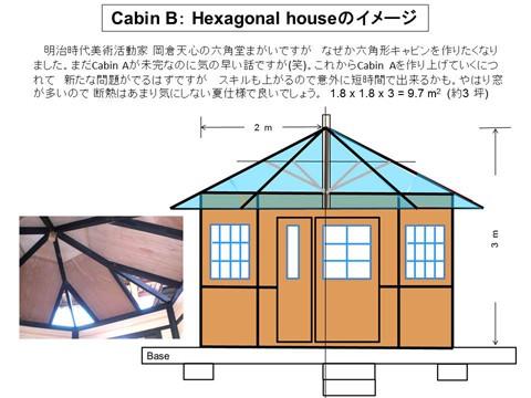 Cabin B:六角形の山小屋(構想)