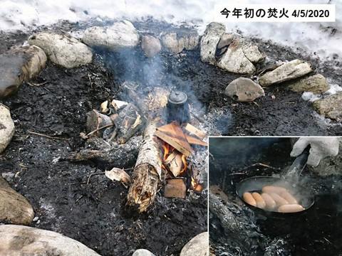 今年初の焚火