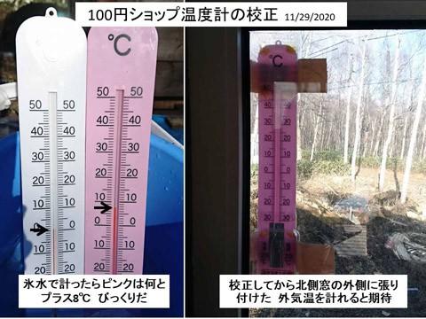 100円ショップの温度計を校正した