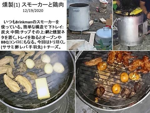 燻製(1) スモーカーと鶏肉