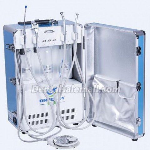 What features should you consider when buying a portable dental unit?