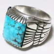 "CECIL ASHLEY / TURQUOISE RING ① ""Morenci"" (25)"