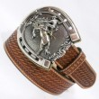 "Tony Lama / C41564 LEATHER BELT ""Bronco"" (TAN ANTIQUE)"