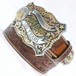 "Tony Lama / C41684 LEATHER BELT ""100YEARS"" (TAN ANTIQUE)"