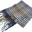 Barbour / Budle Check Scarf (NAVY/CAMEL)