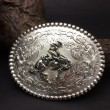 "MONTANA SILVERSMITHS / Oval Buckle ""FLORAL"""