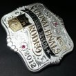 "MONTANA SILVERSMITHS / Trophy Buckle ""NFR2012"" (SILVER PLATE)"