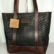 CORONADO LEATHER / BISON TOTE(BLACK/BROWN)