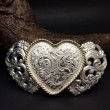 "CRUMRINE / TROPHY BUCKLE "" heart """