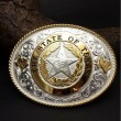 "MONTANA SILVERSMITHS / Oval Buckle ""STAR STATE TEXAS"""