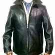 DEER HORN SMITH'S / EZODEER LEATHER ZIPJACKET (BLACK)