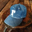 FULLCOUNT DENIM BASEBALL CAP (FADE GREEN)