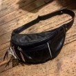 WEST RIDE / RIDING WAIST BAG (BLACK×BROWN)